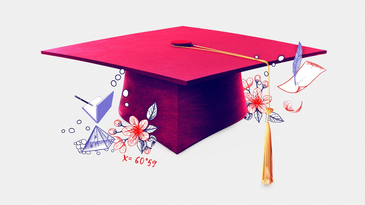 Graduation hat; image used for HSBC Malaysia Liquid Financial Magazine.