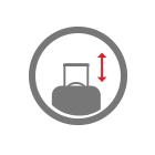 fully retractable elescopic trolley icon