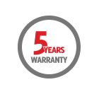 5 years warranty against shell crack icon